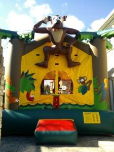 Monkey Safari Bouncy Castle